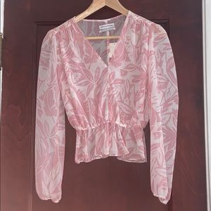 Urban Outfitters Pink Flounce Top
